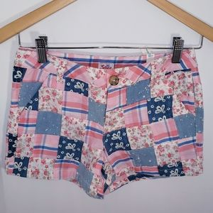 Girl's Justice Patchwork Floral Shorts NEW 12